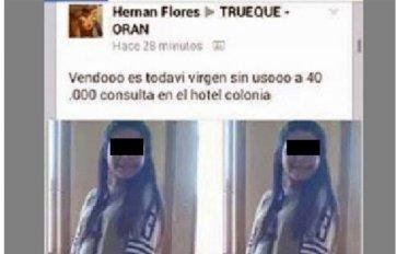 """La """"oferta"""" publicada en Facebook."""
