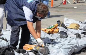La cocaína era enviada en bolsas de carbón.